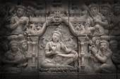 Low relief cement Thai style handcraft of hindu gods — Stock Photo