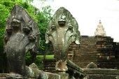 16. století písku kamenný hrad Phanomrung historický Park zámku — Stock fotografie