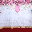 Pink and white backdrop flowers arrangement ready for wedding. — Stock Photo #58233971
