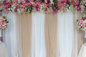 Backdrop flowers arrangement for wedding ceremony. — Stock Photo