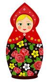 Russian tradition matryoshka dolls — Stock Vector