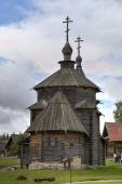 Church of the Resurrection (Voskresenskaya). Museum of wooden architecture. Suzdal, Golden Ring of Russia. — Foto Stock