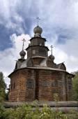 Holy Transfiguration (Preobrazenskaya) Church. Museum of wooden architecture. Suzdal, Golden Ring of Russia. — Foto Stock