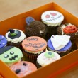Delicious cakes for Halloween. Zombie, witch, ghost, pumpkin, grave. — Stock Photo #58192063