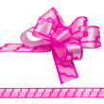 Shiny pink satin ribbon on white background — Stock Photo #62540687