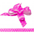 Shiny pink satin ribbon on white background — Stock Photo #62540713