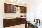 Kitchen Interior Design,Photos of Living room Interior photography. — Stock Photo