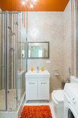 Luxe badkamer met douche — Stockfoto