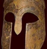 Ancient Greek Spartan Helmet — Stock Photo