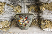 Old Painted Ceramic Vase — Stock Photo