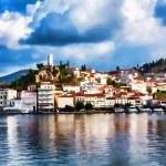 Постер, плакат: Poros Island Greece Impressionism effect