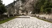 Stoned Monastery of Panagia Pelekiti, Greece — Stock Photo