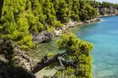 Rocky Beach of alonissos, Greece — Stock Photo