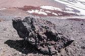 Volcanic rock closeup on Etna, Sicily, Italy — Stock Photo