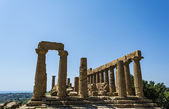 Ancient Greek Temple of Juno God, Agrigento, Sicily, Italy — Stok fotoğraf