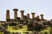 Hercules Temple ancient columns, Italy, Sicily, Agrigento — Stock Photo