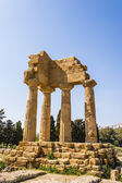 Temple of Dioscuri - Castor and Pollux - at Valley of Temples, Agrigento. — Stok fotoğraf