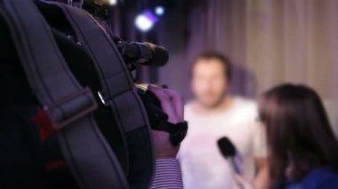 Cameraman at work — Stock Video