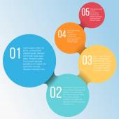 Vector infographics circle business templates — Stock Vector