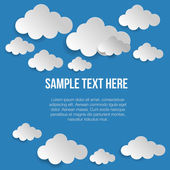 Vector illustration of paper clouds — Stock Vector
