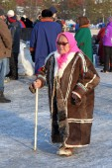 Elderly Nenets woman — Stock Photo
