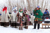 Men and women Nenets — Stock Photo