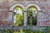 Overgrown ruins of the manor house — Stock Photo