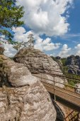 Saxon Switzerland National Park - Bastei, Germany — Stock Photo