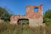 The ruins of the old manor house — Stock Photo
