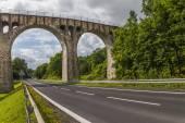 Old stone railway viaduct — Stock Photo
