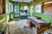 Forgotten television studio in a dilapidated building — Stock Photo