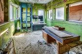 Forgotten television studio in a dilapidated building — Foto de Stock