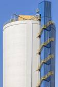 The huge industrial silos — Stock Photo