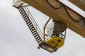 Old gantry crane in the yard — Stock Photo
