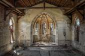 The hollow interior of an old Christian church — Stock Photo
