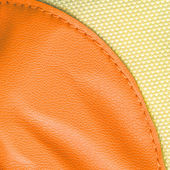 Yellow leather and fabric texture — Foto Stock