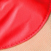 Red leather and fabric texture — Foto Stock