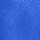 Blue leather closeup. — Stockfoto