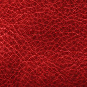 Red leather closeup. — Stockfoto