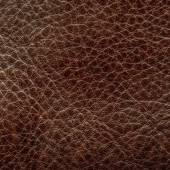Brown leather closeup. — Stockfoto