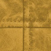 Fragment of yellow leather — Stock Photo
