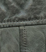 Fragment of green leather — Stockfoto