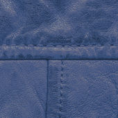 Fragment of blue leather — Stock Photo