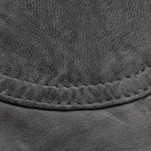 Fragment of black leather — Stock Photo