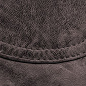 Fragment of brown leather — Stock Photo