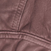Fragment of brown leather  jacket — Stock Photo