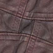 Fragment of red-brown leather  jacket — Stock Photo