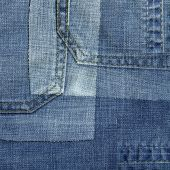 Background from slices of denim — Stock Photo