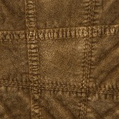 Fragment of  brown leather clothing — Stock Photo