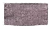 Blank brown fabric label — Stock Photo